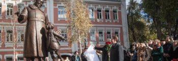 Открытие первого памятника Маршаку в Воронеже